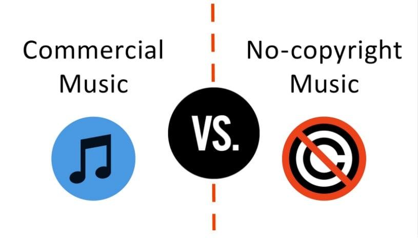 Commercial vs No Copyright music