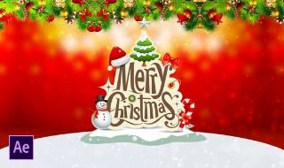 Simple Christmas Greetings Video in Adobe After Effects